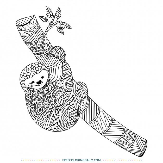 Sloth Coloring Free!
