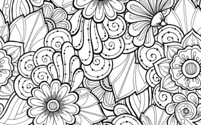 Free Coloring Printable Floral Swirls