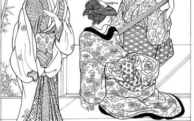 Free Kimono Coloring