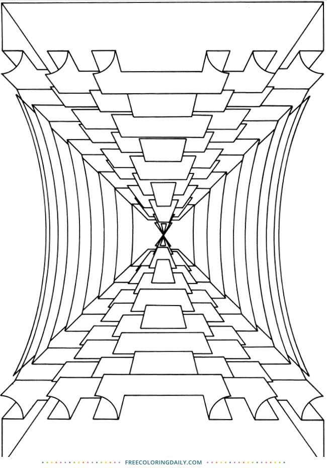 Free Geometric Design Coloring