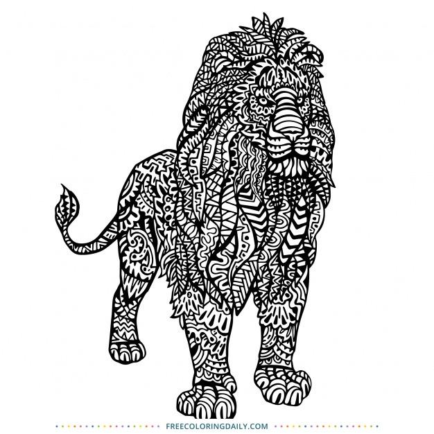 Free Pattern Lion Coloring