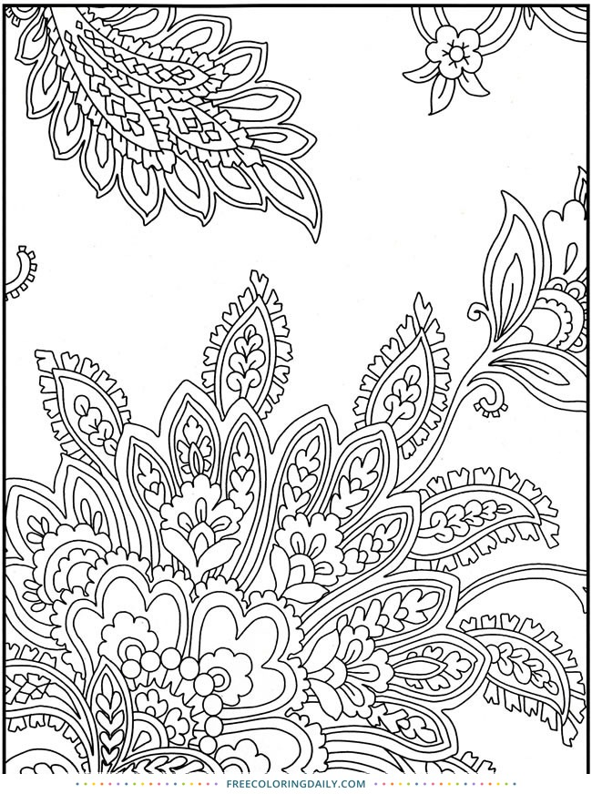 Free Pretty Paisley Pattern