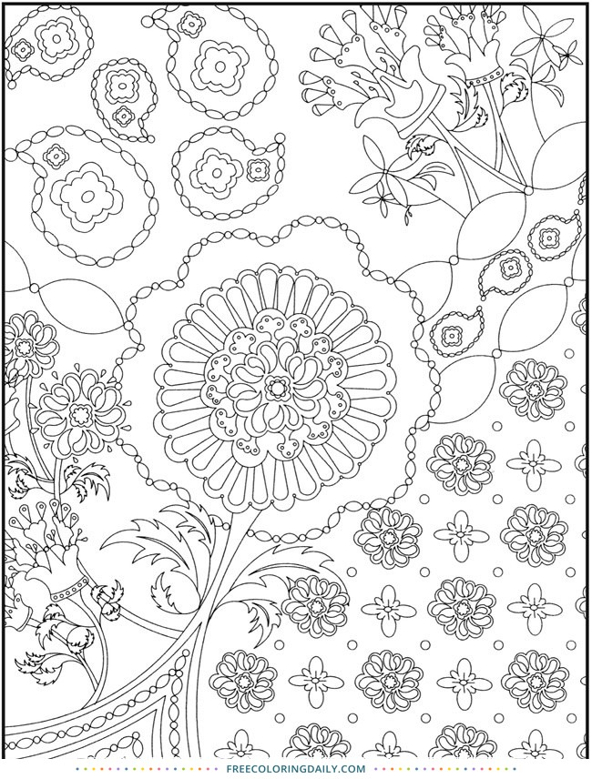 Free Paisley Pattern Coloring