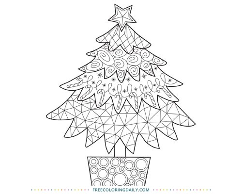 It is a picture of Printable Christmas Tree Coloring Pages regarding free printable