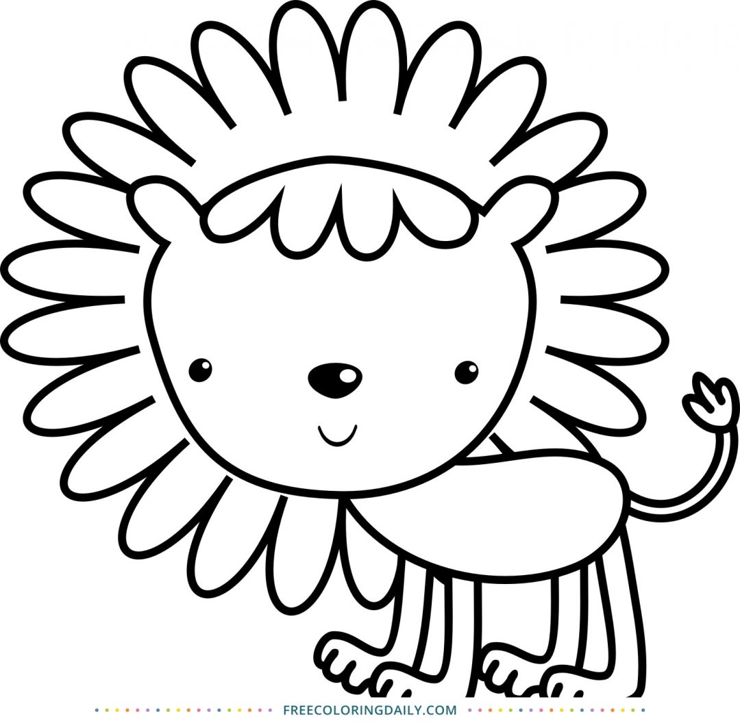 Cute Lion Coloring for Kids