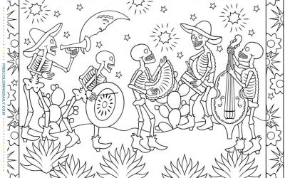 Free Day of the Dead Coloring