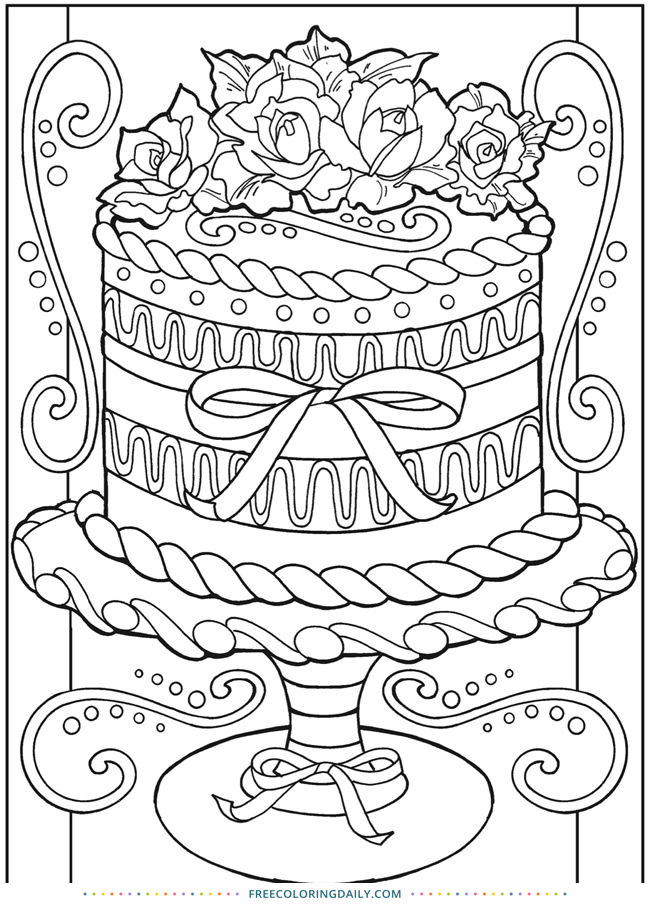 Free Cake Decorating Coloring