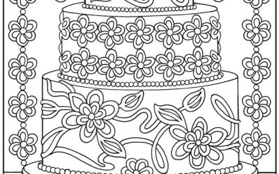 Free Cake Decorating Coloring page