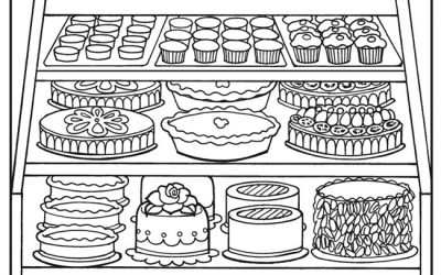 Free Bakery Treats Coloring Page