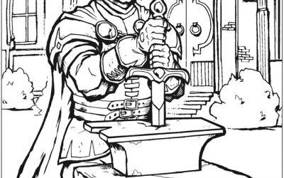 Free King Arthur Coloring
