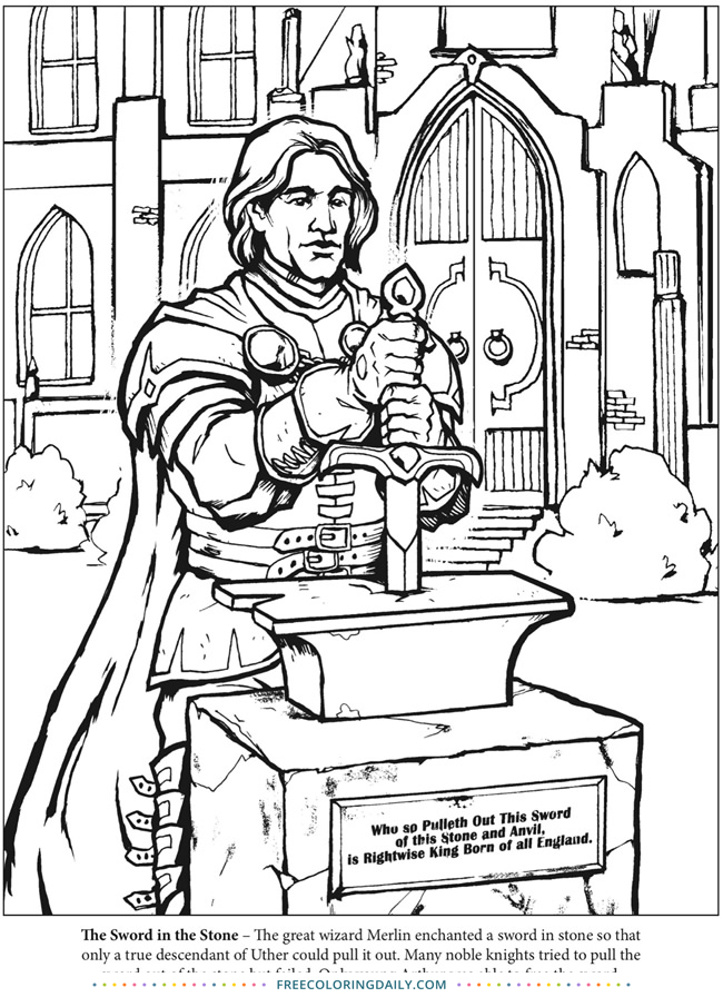 Free King Arthur Coloring