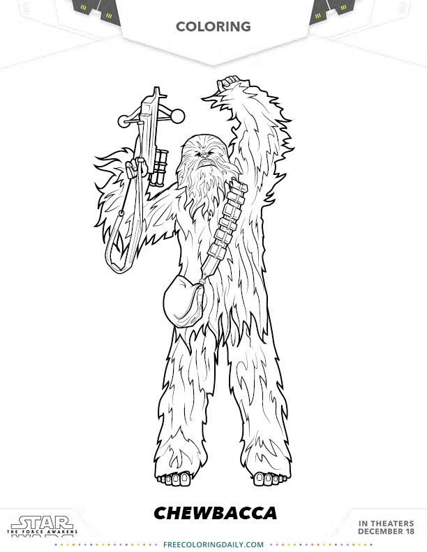 Free Chewbacca Coloring