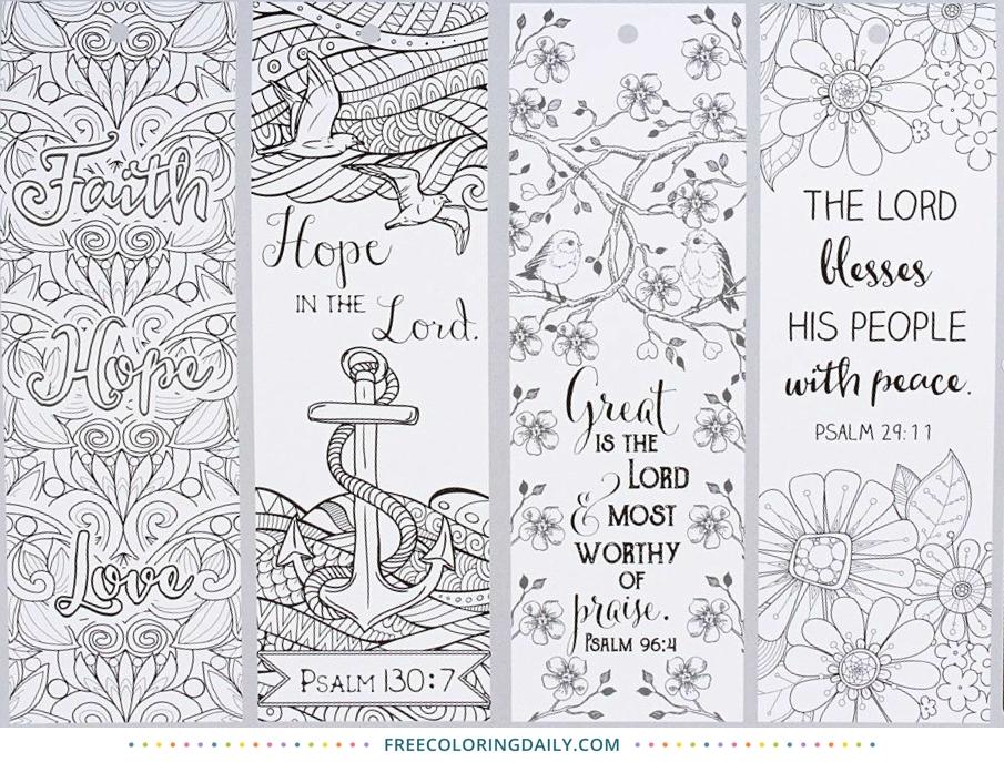 Free Religious Bookmarks