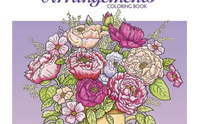 Flower Arranging Coloring Book
