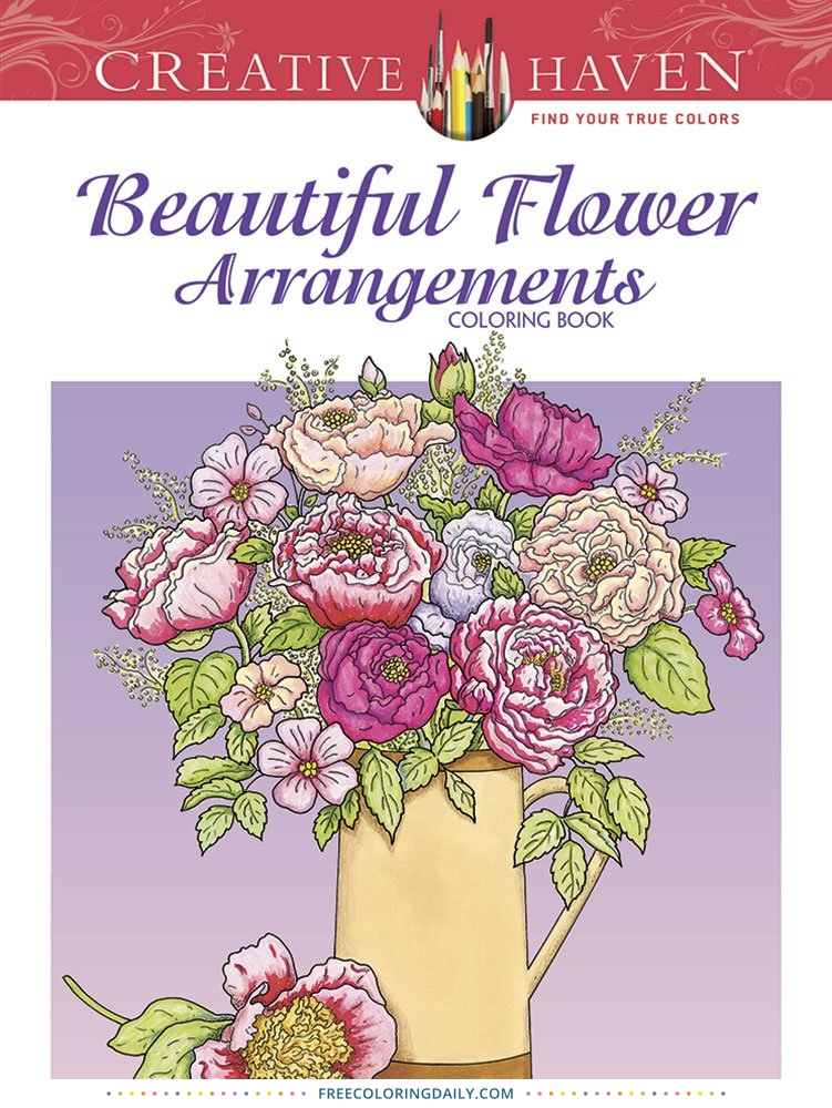Flower Arranging Coloring Book