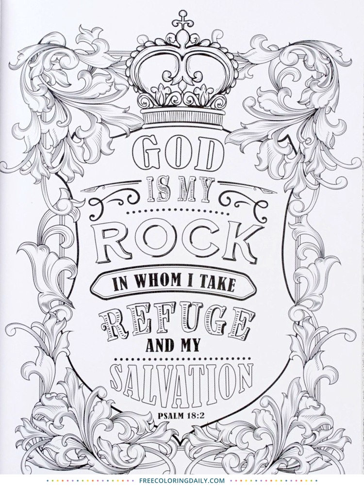 Free Coloring Scripture Page