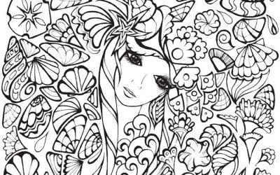 Beautiful Nature Woman Free Coloring