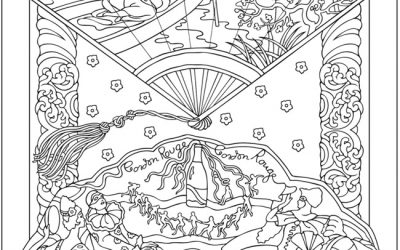 Free Asian Fan Coloring Page