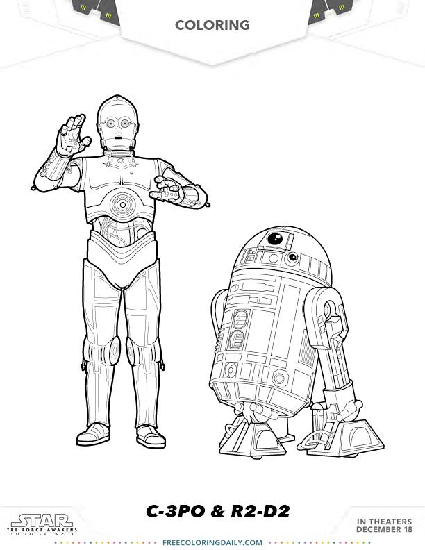 Free Star Wars Coloring – C3P0