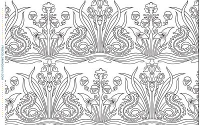 Free Foliage Pattern Coloring