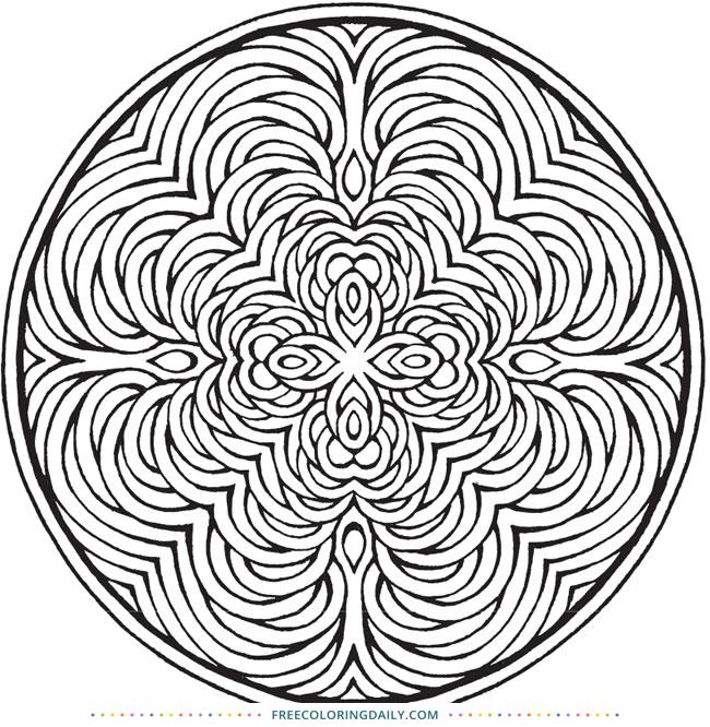 Free Circle Mandala Coloring