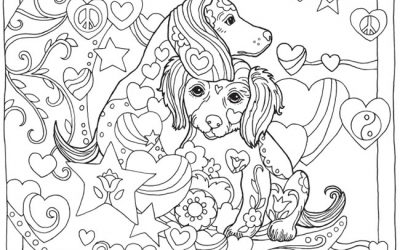 Cute Dog Free Printable Coloring Page