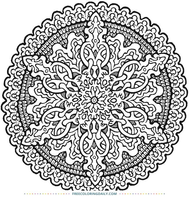 Free Beautiful Mandala Coloring