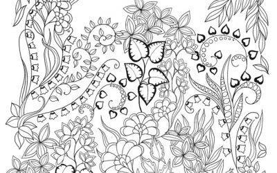 Free Butterflies Coloring Page