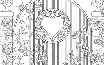 Free Coloring Page with Gate