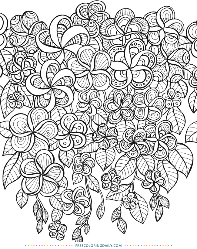 Free Floral Zentangle Coloring