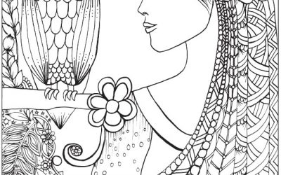 Wise Owl Free Coloring Page
