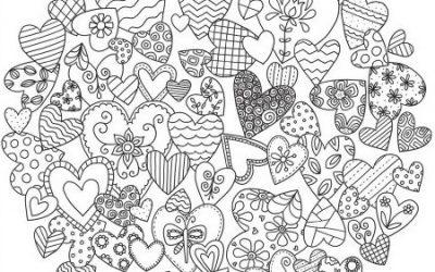 Circle of Hearts Free Coloring