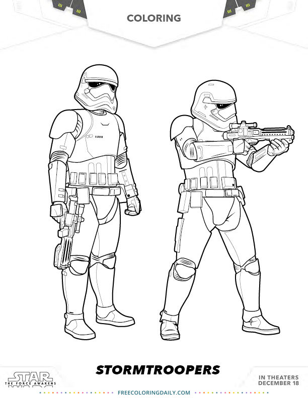 Star Wars Stormtrooper Coloring