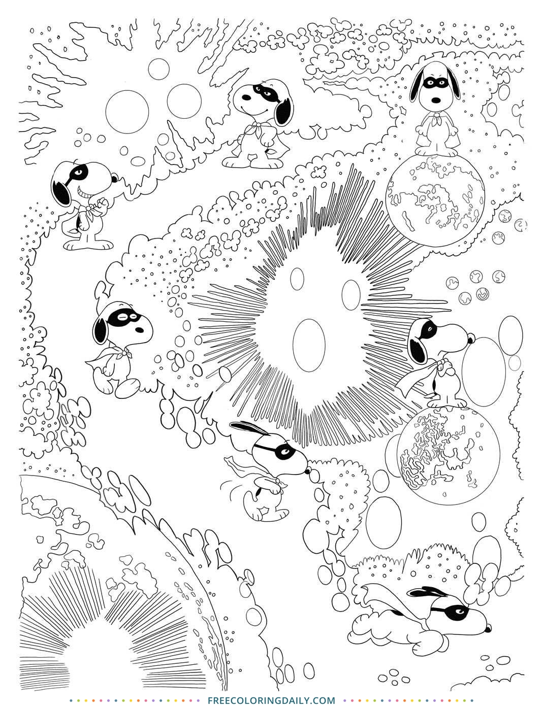 Free Snoopy Coloring page