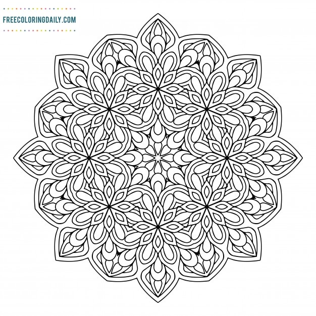 Free Pattern Mandala Coloring Sheet
