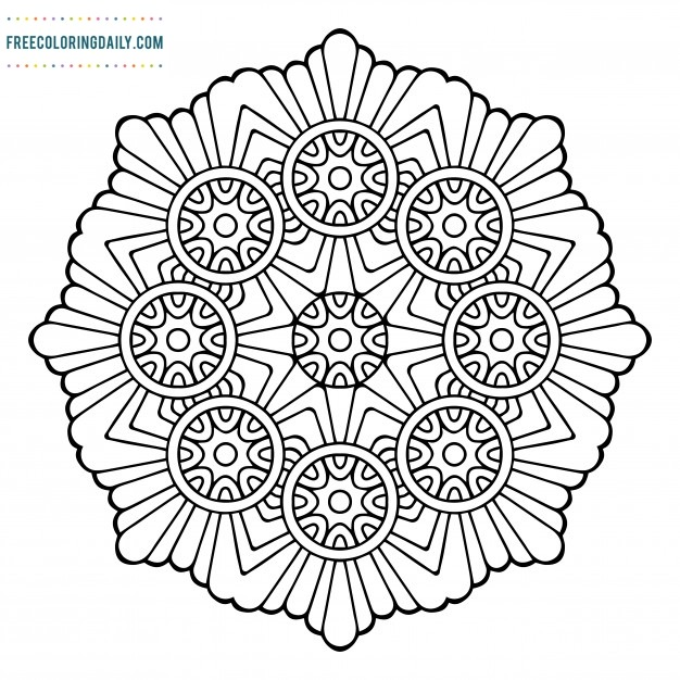 Free Amazing Mandala Coloring