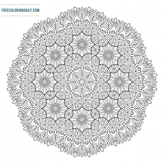 Free Mandala Coloring Sheet