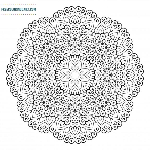Mandala Coloring – FREE!