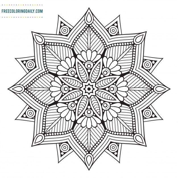Free Mandala Pattern Coloring
