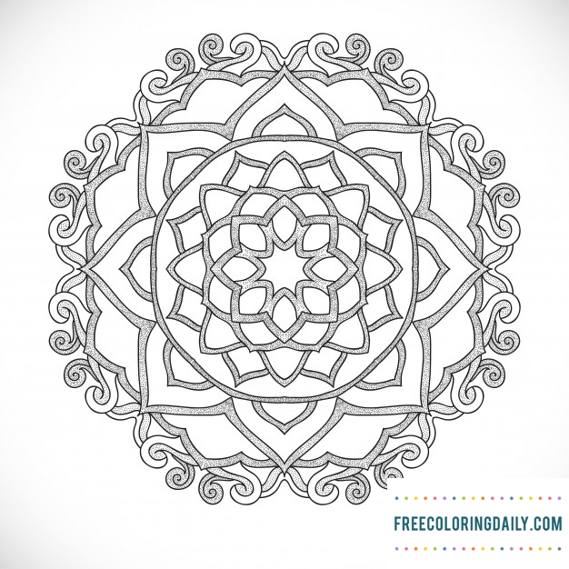 Free Lovely Mandala Coloring