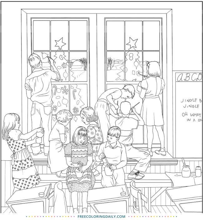 Free School Coloring Page