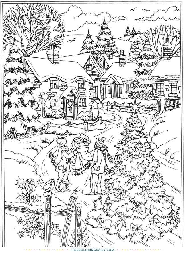 Free Christmastime Coloring