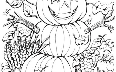 Free Happy Pumpkin Halloween Coloring