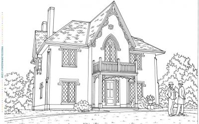 Free Vintage House Coloring