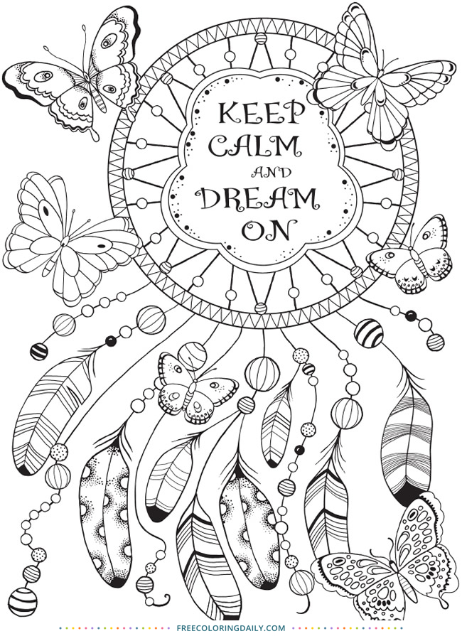 Free Dreamcatcher Coloring