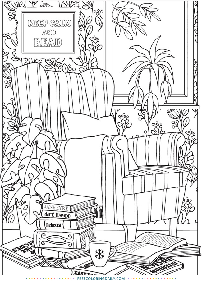 Free Living Room Coloring