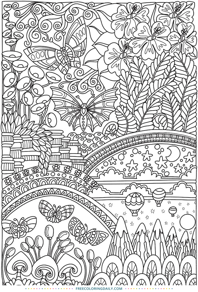 Free Lovely Garden Coloring