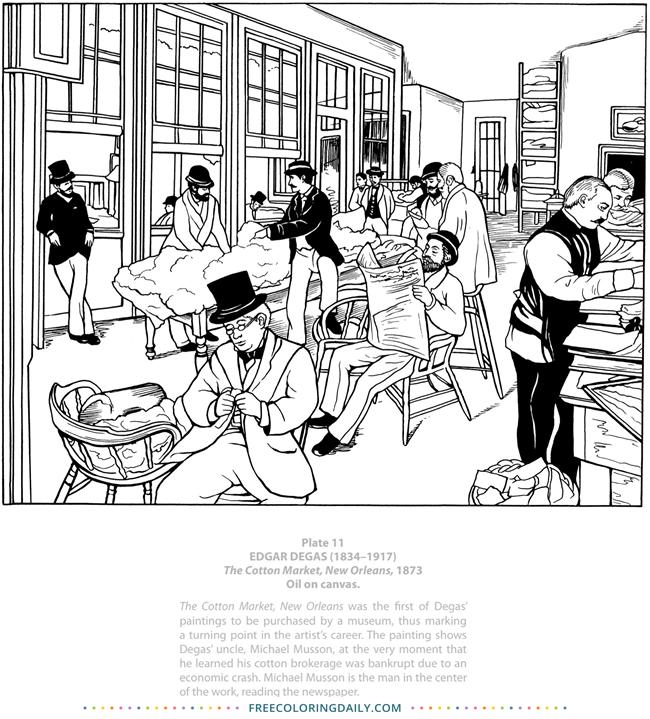 Free Degas Coloring Page