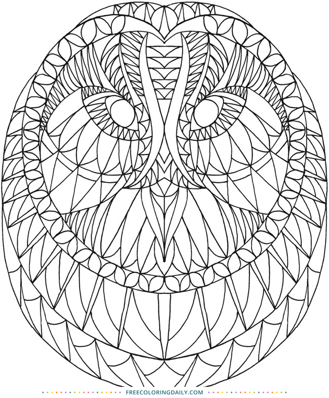 Free Geometric Owl Coloring