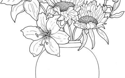 Free Floral Bouquet Coloring